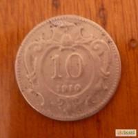 10 геллеров 1910 Австрия