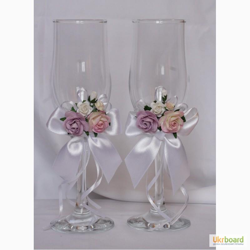 Оформление бокалы на свадьбу фото