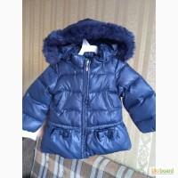 Зимняя пуховая куртка Benetton на 1-2 года 82 рост. Без дефектов. Бинеттон