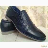 Летние мужские синие туфли FARO СКИДКА