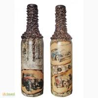Подарочное оформление бутылки Ретроавто. Подарок мужчине водителю