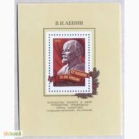 Почтовые марки СССР 1982. Блок 112 лет со дня рождения В. И. Ленина (1870-1924)