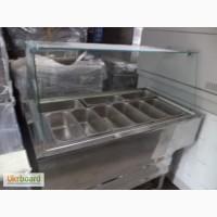Линия раздачи: мармиты холодильные, тепловые и кондитерские в хорошем состоянии б/у