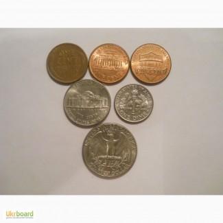 Монеты США (6 штук)