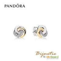 Серьги PANDORA ― серьги круги любви 290741CZ