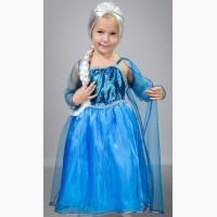 Детский карнавальный костюм Эльзы, размеры 30-32
