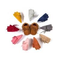 Замшевая обувь для детей, мокасины, пинетки