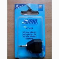 Аналоговый аудиоадаптер 3.5 mm stereo jack plug - 2X 3.5 mm stereo sockets