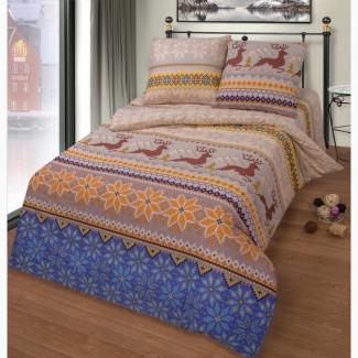 Норвежская сказка – новогодняя постель с оленями (бязь, 100% хлопок)