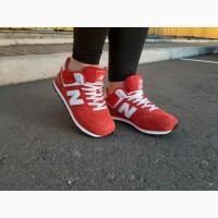 Красные зимние кроссовки New Balance 574 Low Red с мехом