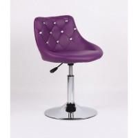 Парикмахерское кресло HC931N фиолетовое