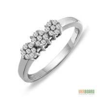 Золотое кольцо с бриллиантами 0,24 карат 17 мм. НОВОЕ (Код: 17920)