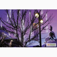 Гирлянды сосульки светодиодные. Светодиодная подсветка деревьев