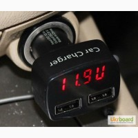 Продам: 2хUSB 3, 1А цифровой вольтметр, амперметр, термометр, авто зарядка в прикуриватель