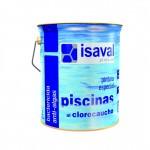 Краска ISAVAL Хлоркаучук 4 л голубой, белый - для бетонных бассейнов, прудов, резервуаров
