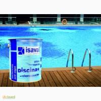 Краска для бетонных бассейнов, прудов, резервуаров ISAVAL Хлоркаучук 4 л голубой