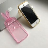 Силиконовый чехол подставка Ушки на iPhone5/5s