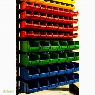 Ящик складской пластиковый под метизы и чтеллаж