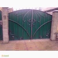 Ворота из профнастила и кованные изготовление и установка в Одессе и Одесской области
