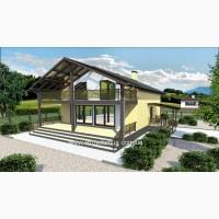 Классический каркасный дом из сип панелей от производителя Харьков