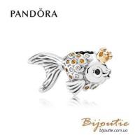 Шарм PANDORA ― золотая рыбка 792014CCZ оригинал