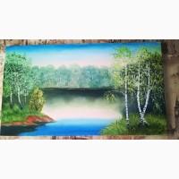 Продам летний пейзаж, картина маслом, Харьков
