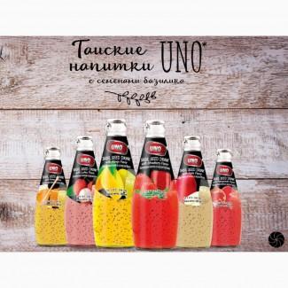 Экзотические эксклюзивные напитки из Тайланда UNO BASIL SEED (Напитки с семенами базилика