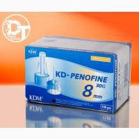 Иглы для шприц ручек КД Пенофайн универсальные 8 мм (KD-PENOFINE 8 мм)