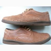 Туфли мужские летние кожаные Lemi