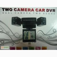 Автомобільний відеореєстратор з двома камерами Two camera car DVR 055