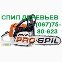 Услуги аренда автовышки и спил аварийных сухих деревьев в городе Одесса