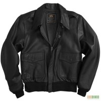 Летная кожаная куртка ВВС США Alpha Industries A-2 Goatskin Leather Jacket