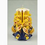 Подарочные свечи ручной работы - Цветок в корзине