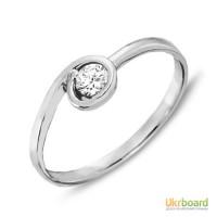 Золотое кольцо с бриллиантом 0,15 карат. НОВОЕ (Код: 16810)