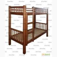 Кровать деревянная двухъярусная / односпальная