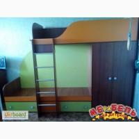 Детская двухъярусная кровать со шкафом (а5) Merabel