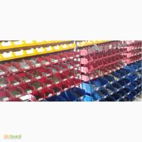Купить стеллаж с ящиками для метизов в Харькове, складские ящики