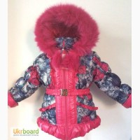 Детские теплые зимние комбинезоны -тройка для девочек Розочка на 1-5 лет