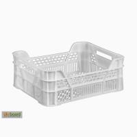 Пищевой пластиковый ящик 400х300х155/110