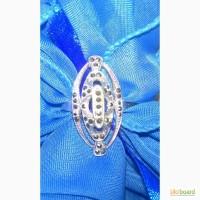 Кольцо с капельным серебром