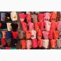 Трикотажные шапочки для девочек 50-54 см опт и розница