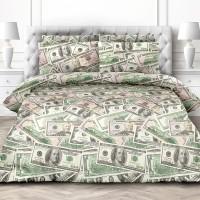 Доллары, постельное белье (поплин, 100% хлопок) - оригинальный подарок