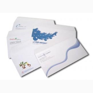 Печать конвертов, печать на конвертах, изготовление конвертов Киев