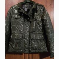 Крутая дизайнерская куртка лакиро Италия, р.36