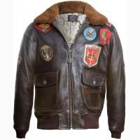 Шкіряна куртка Top Gun Official Signature Series Jacket (коричнева)