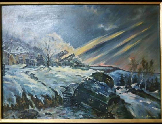 Фото 2. Продам картину маслом (военная тематика, танк, война, соцреализм)