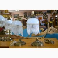 Настольная лампа с хрусталем с Германии, 2 шт., А10063 Светильник настольный латунь/опал