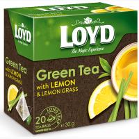 Чай зеленый Loyd Лимон и Лемонграсс в пирамидках 20 шт х 1.5 г