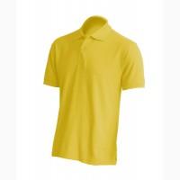 Мужская футболка поло, желтый цвет