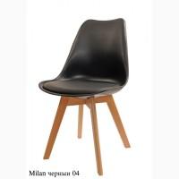 Стул пластиковый Milan (Милан) ножки бук - белый, черный, бежевый, серый, бирюзовый и др